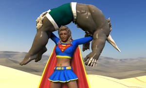 Doomsday vs Supergirl 8