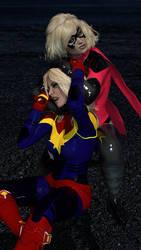 Ms. Marvel vs. Captain Marvel by MickLee99