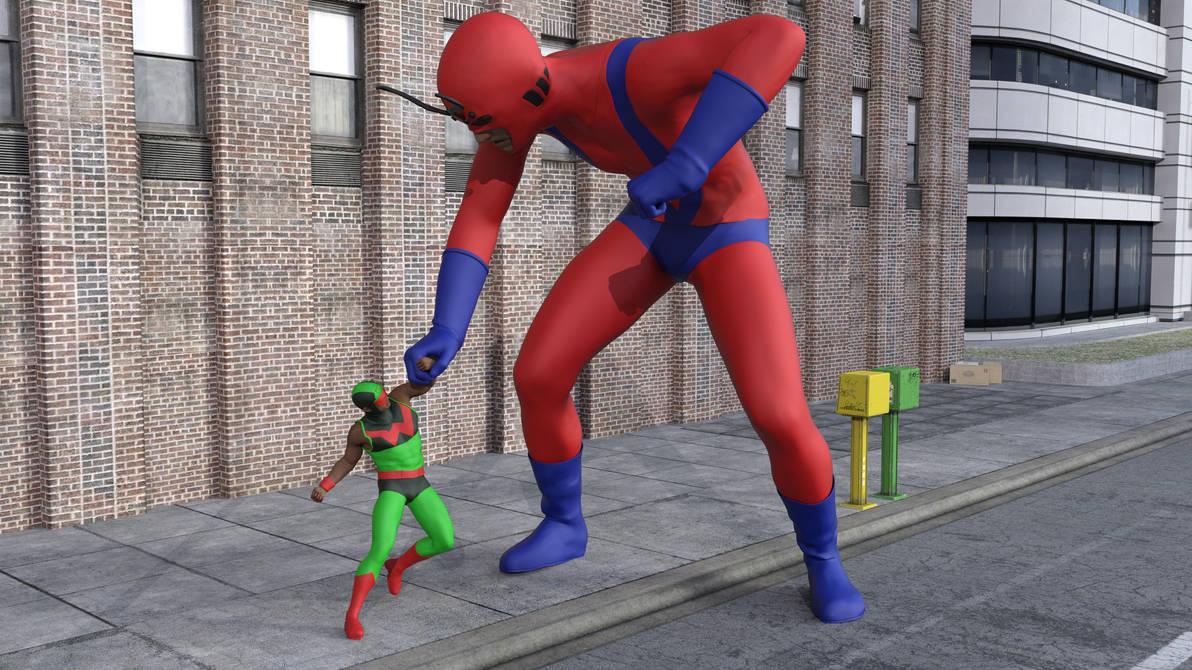 Wonder Man vs Giant Man by MickLee99
