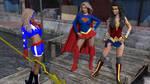 Stargirl Meets Supergirl and Wonder Woman by MickLee99