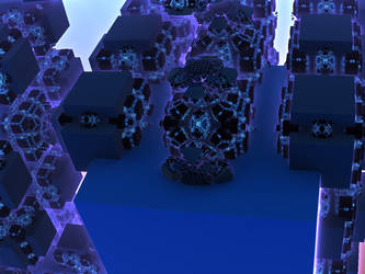 Black and Blue Box City by Undead-Academy