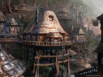 Tree Hut Village by etate