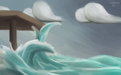 Daily Paintsploration 2 - ''Not Really Big Waves''