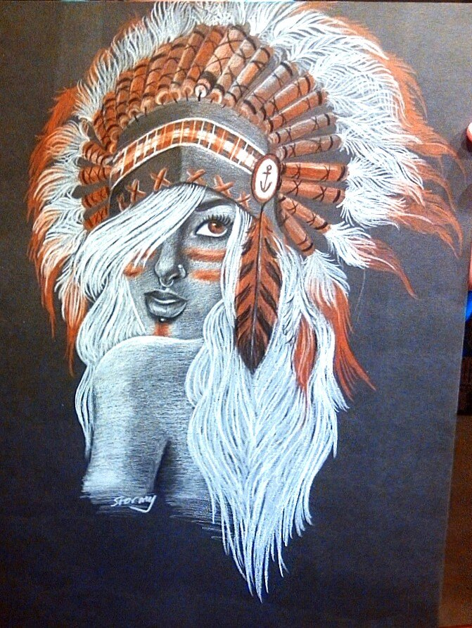 Bear headdress drawing - photo#40
