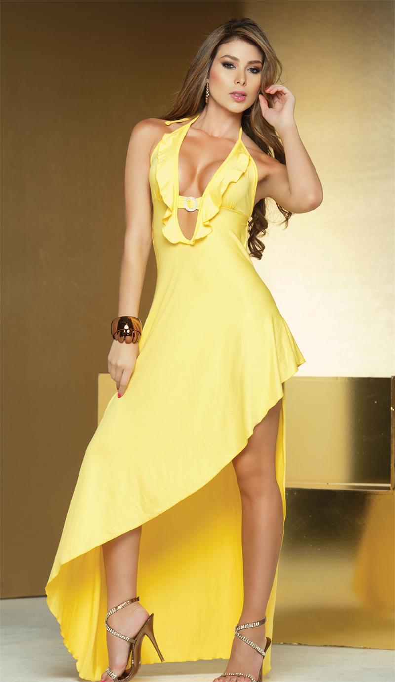 Yellow Long Dress by PrettyPrincessJane