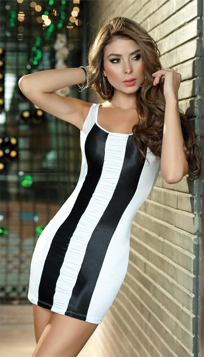 Black and White Minidress by PrettyPrincessJane