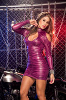 Purple Minidress by Paolacospi