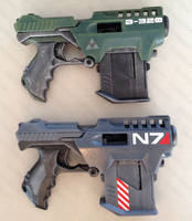 Halo Mass Effect blaster mods by GirlyGamerAU