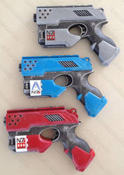 Nerf Scout Mass Effect N7 Normandy pistols by GirlyGamerAU