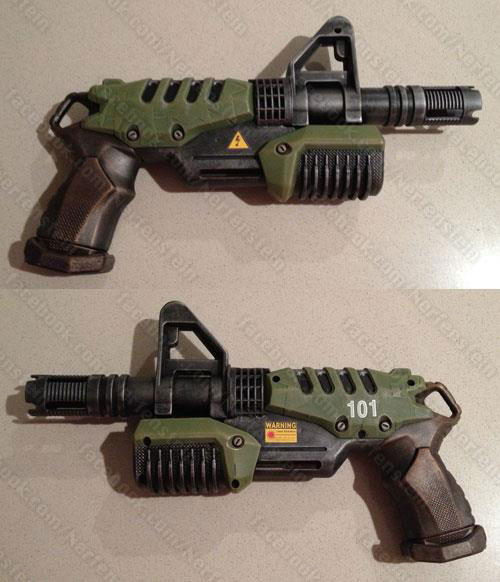 Fallout blaster pistol Nerf SuperSoaker Microburst by GirlyGamerAU