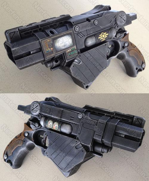 Nerf Vortex Proton Fallout PIP-Boy gun prop by GirlyGamerAU