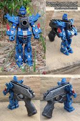 Scoutimus Prime Transformers Gundam style Nerf mod by GirlyGamerAU