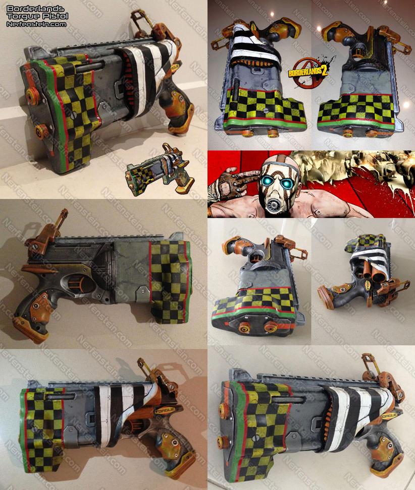 Painted peg board Nerf Gun Display // ad a frame around