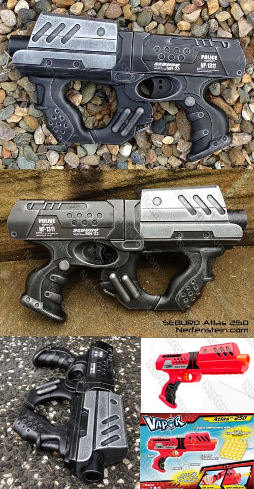 Seburo non Nerf mod Atlas 250 Blaster pistol by GirlyGamerAU