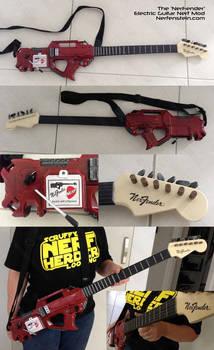 NerFender Nerf Rayven electric guitar gun mod