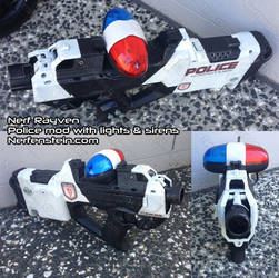 Nerf Rayven police cruiser car gun mod - lights