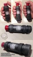 Aliens M40 inspired push top grenade prop