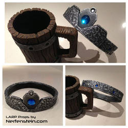 LARP props - Tankard  and Crown