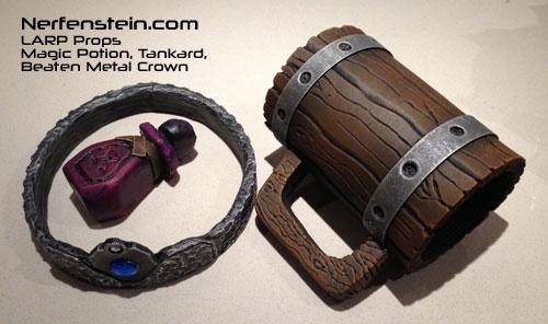 LARP props crown tankard potion by GirlyGamerAU