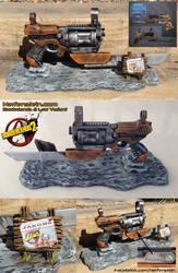 Borderlands Law pistol prop display - Jakobs gun