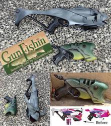 Nerf Rebelle shark Billy Bass mods - Gun Fishin!