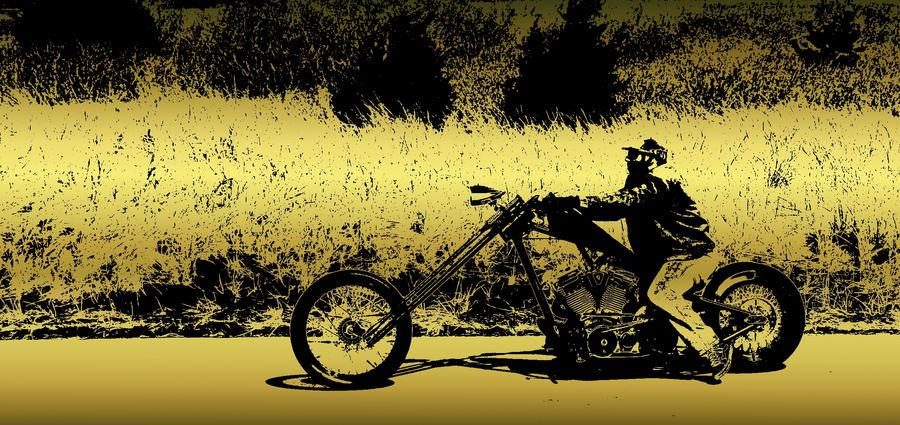 Golden Bike by RachelDS