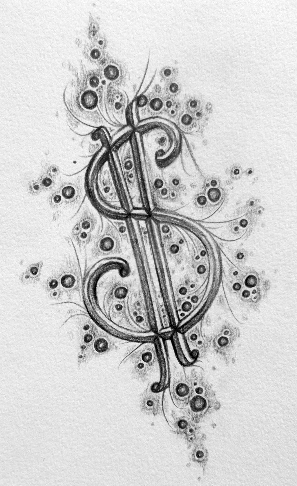 Time Is Money Tattoo Designs With Clock