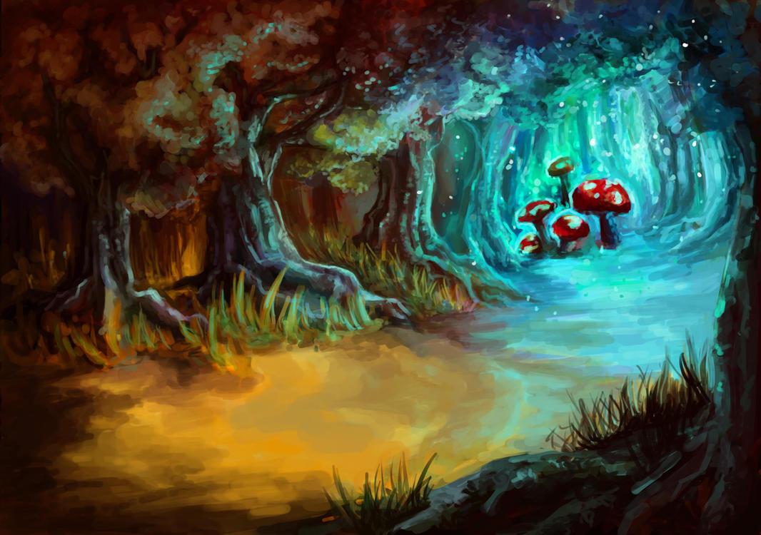 magic mushroom art - photo #4