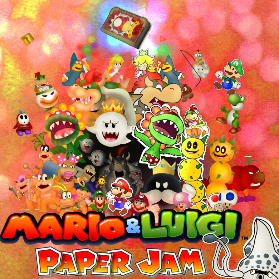 Mario And Luigi Paper Jam Reuploaded By Carlos1909 On Deviantart