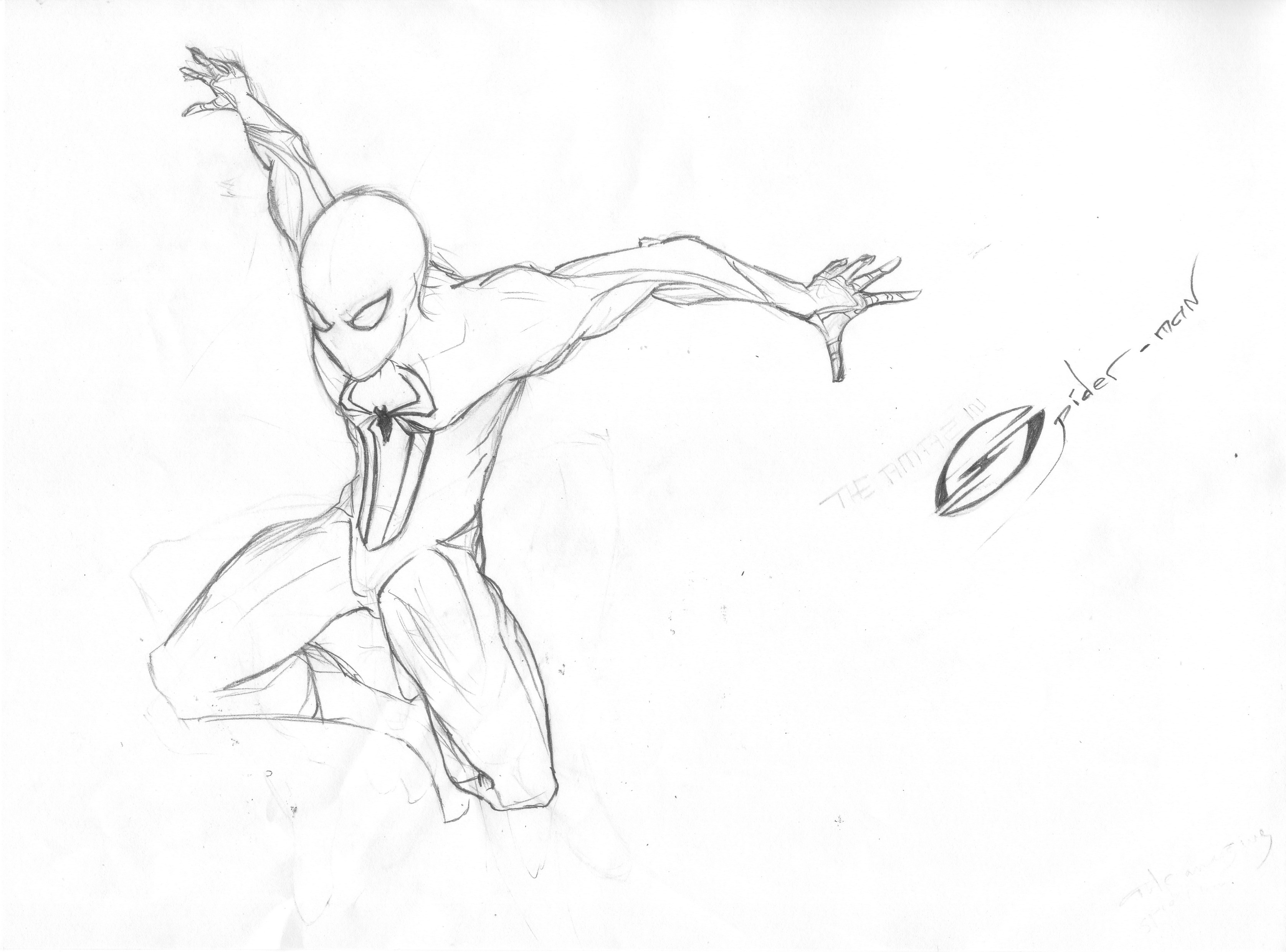 the amazing spider man logo drawing