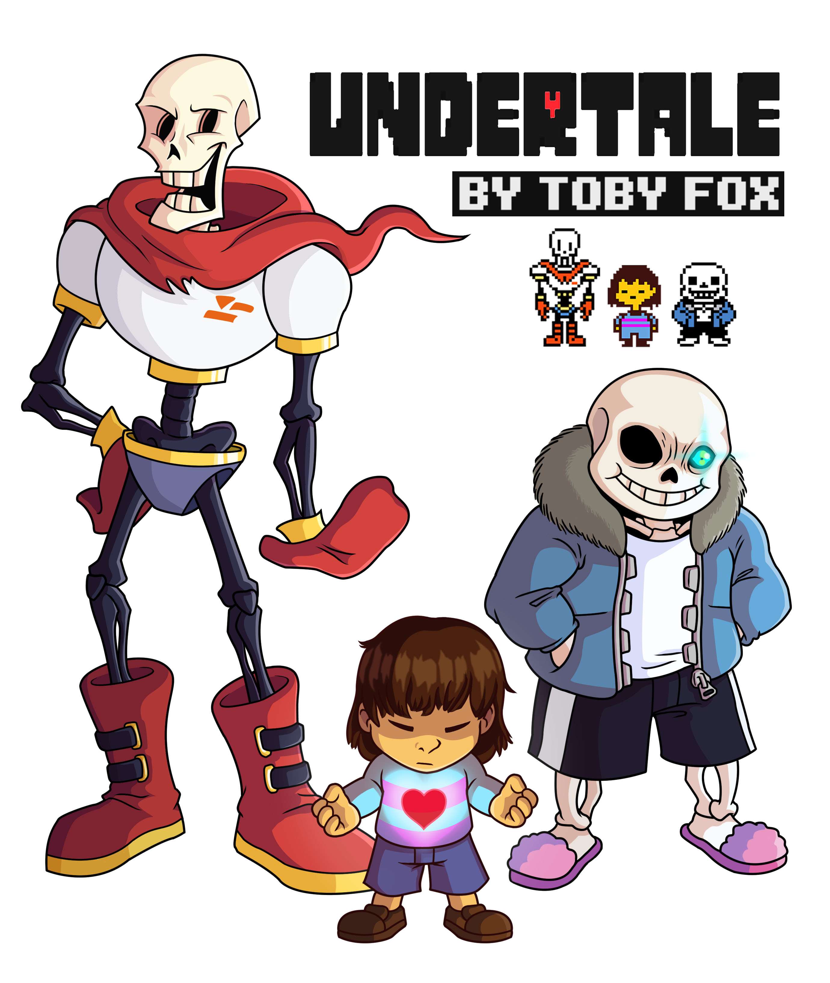 Sans, Frisk, and Papyrus by Eeveewhite97 on DeviantArt
