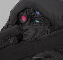 Pencil sketch: Sniper Crosshairs