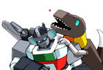 G1 Wheeljack and Grimlock