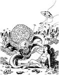 Invasion of the Astro Brains! - Pen and Ink