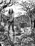 Cemetery Zombie B+W