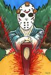 Drawlloween Day 13: Jason's Axe Attack!