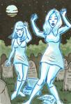 Drawlloween Day 28: Ghosts A-Go-Go
