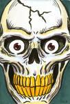 Drawlloween Day 30: Skull with Eyes