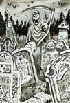 Crumbling Tombstones | Drawlloween 2017 Day 3