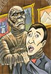Hammer Mummy strangles Vampire Nicolas Cage