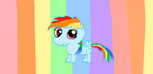 weeeeee wittle rainbow dash by ponys-for-you