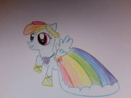 rainbow dash in her gala dress by ponys-for-you