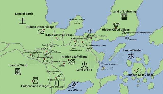 naruto world map hidden waterfall village animeipi by barelyprodigies