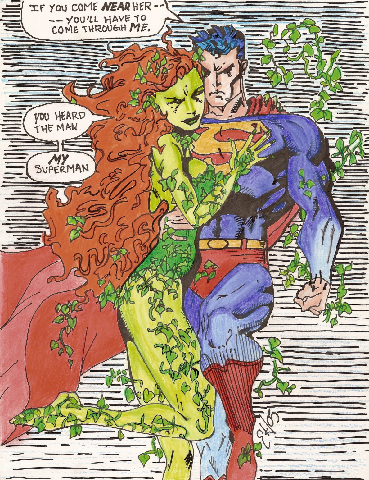 Poison Ivy With Superman Fini By Laneybug25 On Deviantart