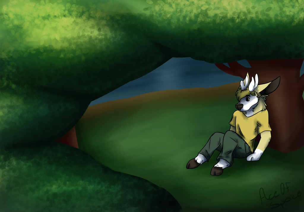 Lake by the Forest by Dapcomred
