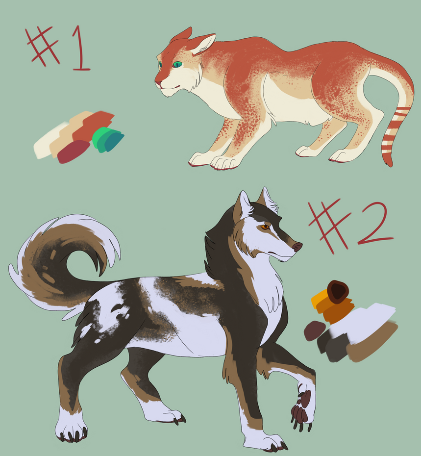 Cat and Wolfdog Adoptables Auction OPEN by Endercat360