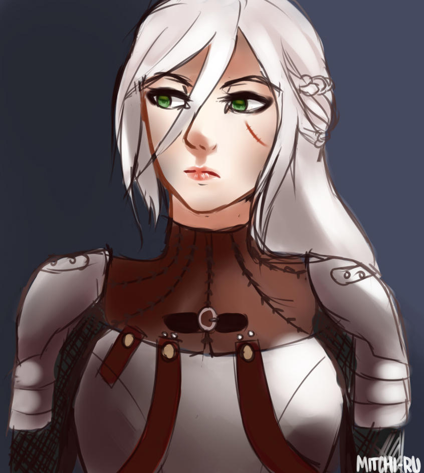Ciri Sketch by Mitchi-ru