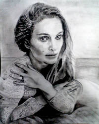 Natalie Portman drawing done over night