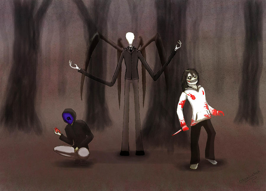 eyeless jack, slenderman and jeff the killer by blankurte ...