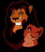 Ahadi and Uru by LittlePuffin